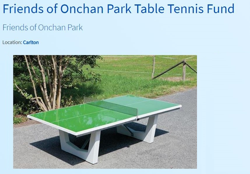 table tennis project page